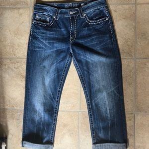 NEW Miss Me Capri Thick Stitch Jeans 29